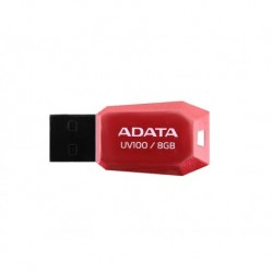 MEMORIA FLASH ADATA UV100 8GB USB ROJA